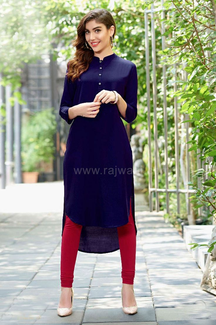Rayon material Kurti for Women #Kurti #Rajwadi #Blue #PartywearKurti #OnlineKurti #WomenKurti