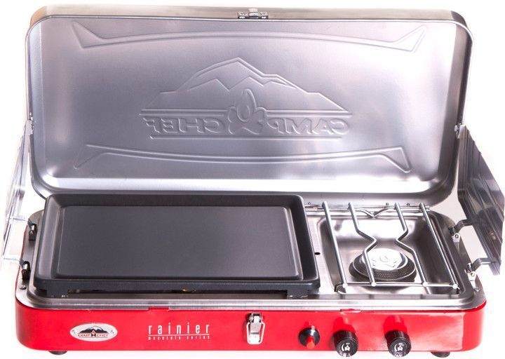Camp Chef Rainier 2 Burner Stove with Griddle