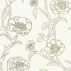 Peonies Removable Wallpaper, Gold Leaf - Contemporary - Wallpaper - by Tempaper