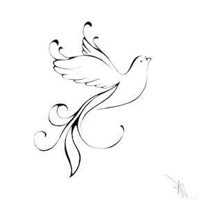 Dove - Wish I had seen this one when I was looking for my dove tattoo.  I still like mine, but this one is so pretty.