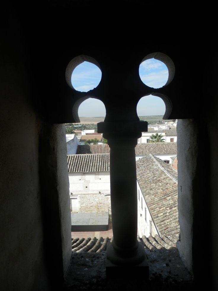 Ajimez posterior de la torre del homenaje del Castillo de Cañete de las Torres