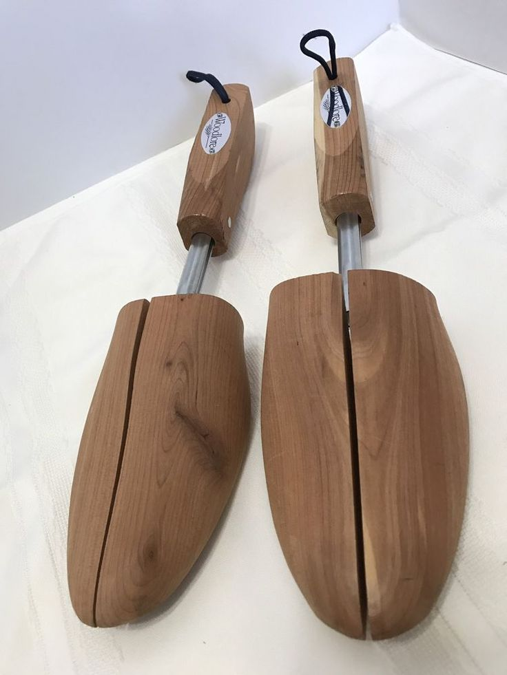 "Pair Woodlore Solid Cedar Shoe Trees Stretchers Men's Appx 12"" Long New No Box #Woodlore"