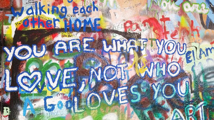 The continuously evolving John Lennon Wall in Prague's Mala Strana District. In 2015 this wall was completely whitewashed by an arts protest group.