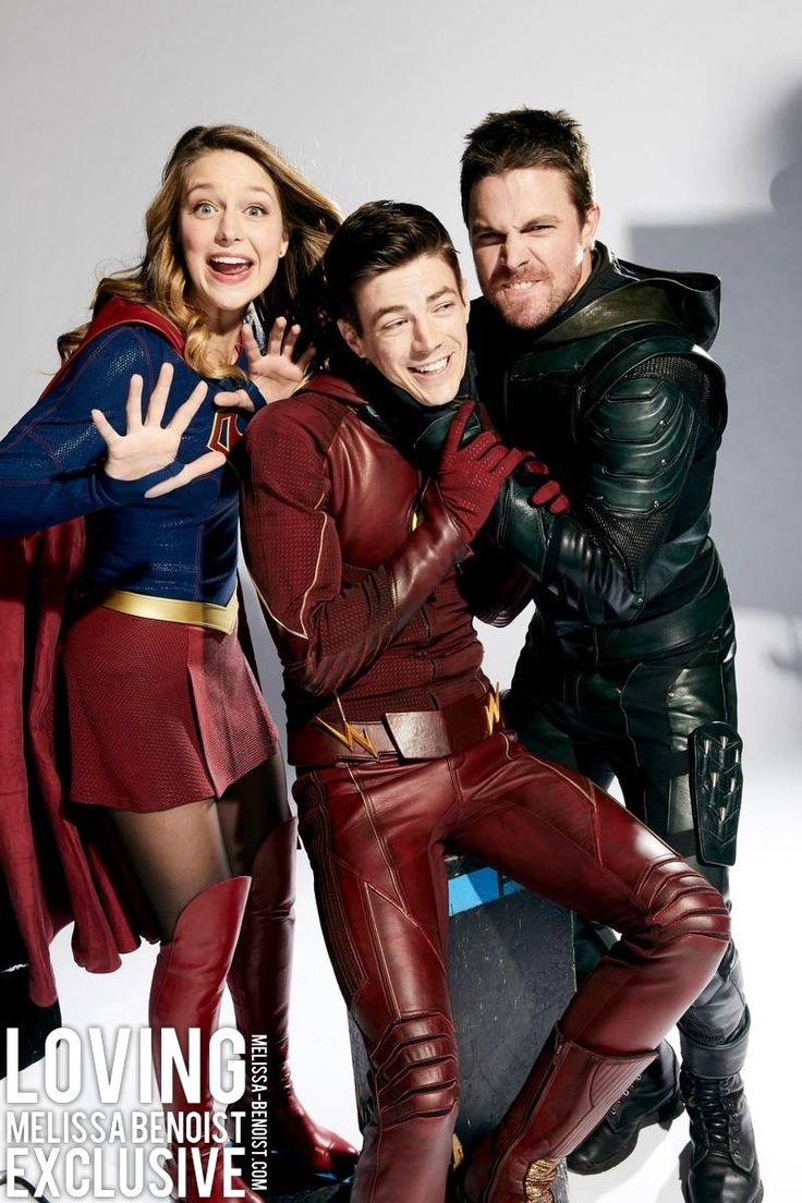 Supergirl, The Flash, and Green Arrow