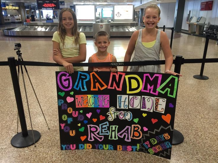 The proper way to welcome grandma at the airport for her visit...