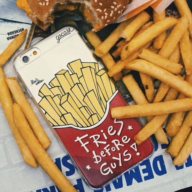 "Everyday is ""fries"" dayCheck out goca.se/insta to see more cases [Available for all iPhones Samsung Galaxy Grand Prime Galaxy J5 Galaxy J7 S4/S4 mini S5/S5 mini S6/S6 EDGE S7/S7 Edge & Moto G3] #friesbeforeguys #iphone #samsung #phonecase. Phone case by Gocase www.shop-gocase.com"