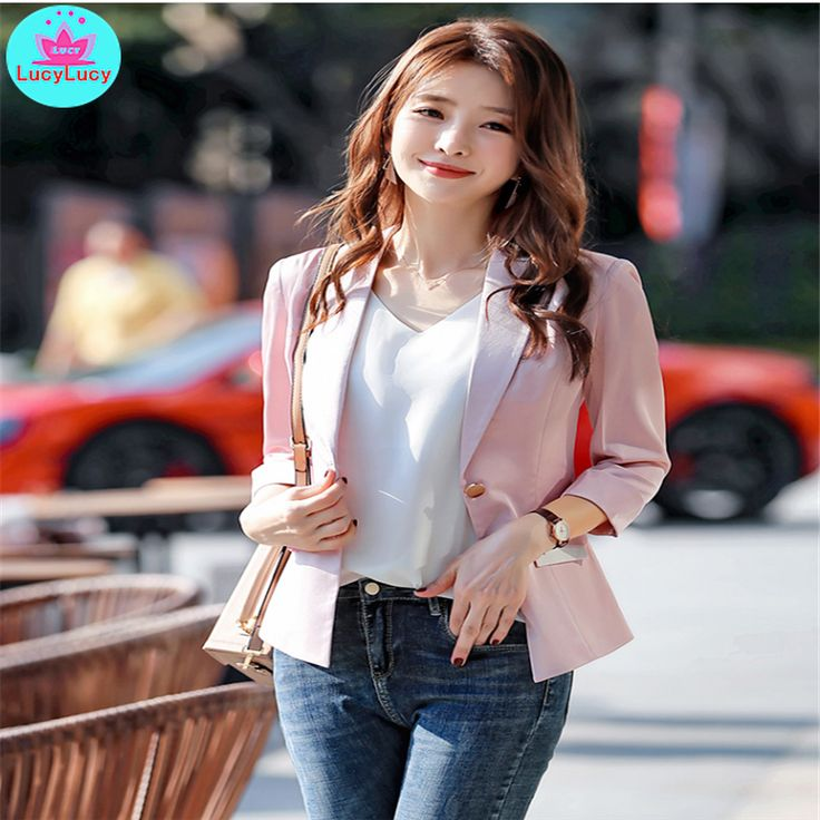 Price $12.75 – $15 2019 small suit jacket Korean style new spring and summer Sli…