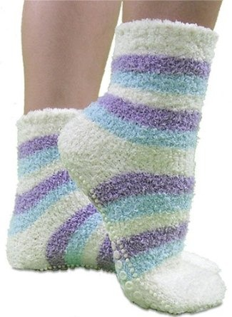 Ohhh one of my favorite things about winter is... I GET TO WEAR FUZY SOCKS!!!:D they make everything so much more cozy!!! I love wearing those with a pare of sweat pants from Victoria's Secret and a sweat shirt!!!!!:)