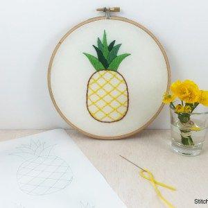 Stitcharama pineapple embroidery pattern PDF Download