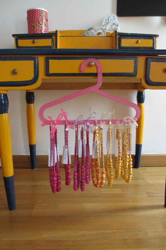 Collier boules orange pour les petites filles par Milshake sur Etsy