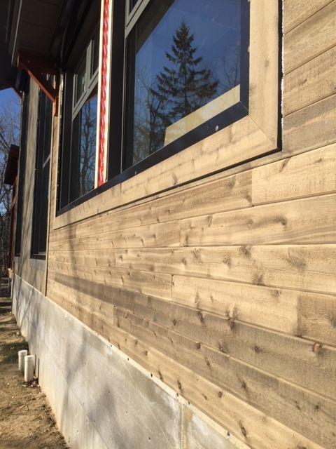 revêtement de bois extérieur
