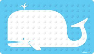 Rubber Bath Mat, Whale eclectic bath mats