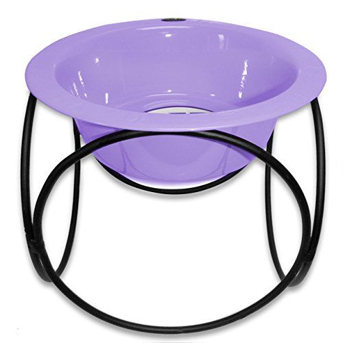 Platinum Pets Single Olympic Diner Feeder with Stainless Steel Dog Bowl 10 oz Lilac *** To view further for this item, visit the image link.