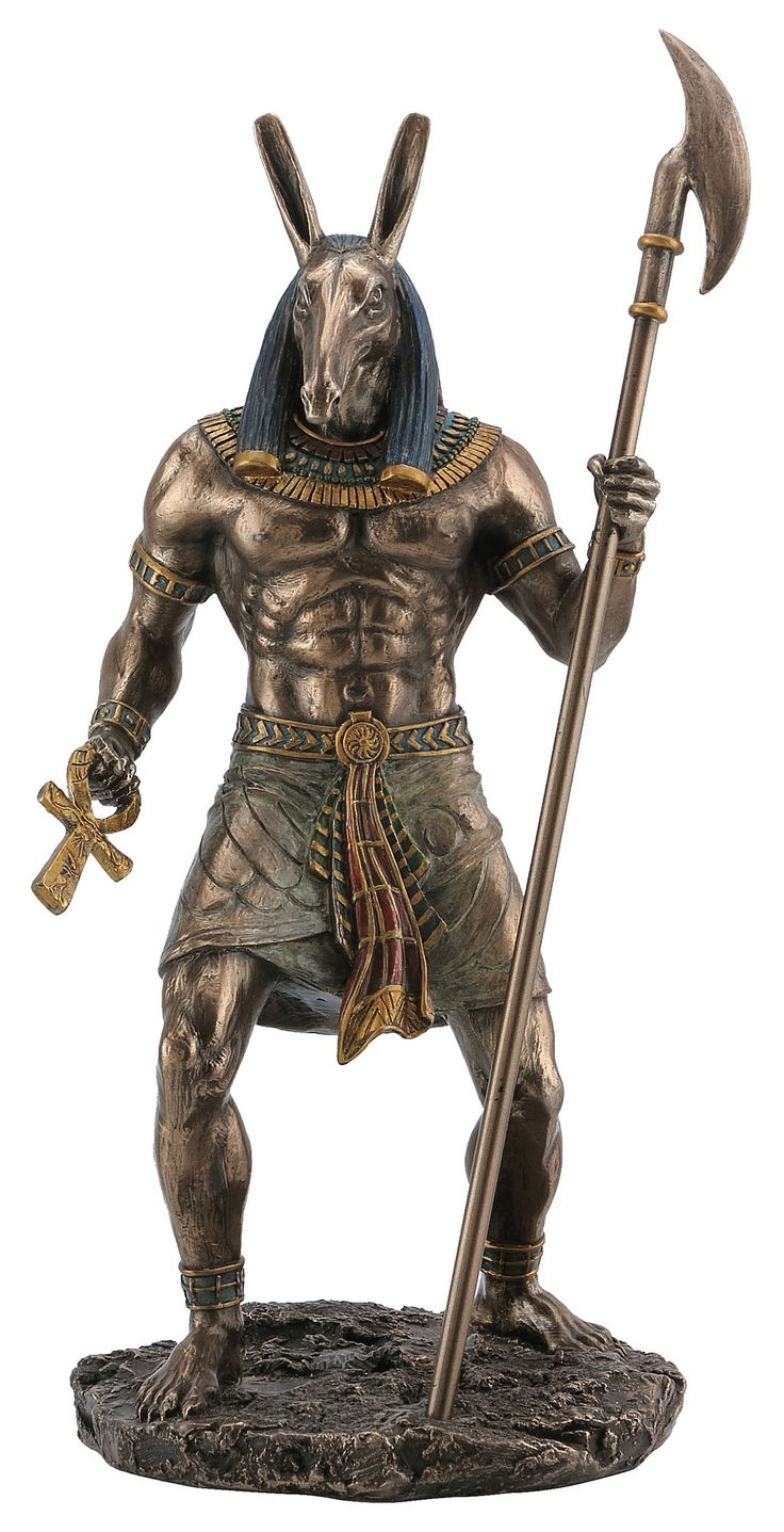 Anubis Holding Ankh And Was Scepter Egyptian Pinterest