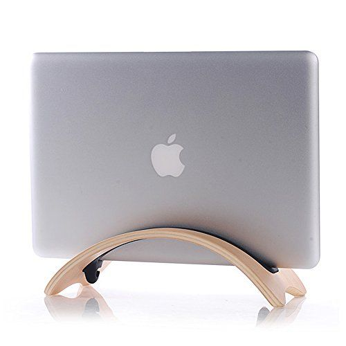Acekool Wooden Desk Holder Stand Display For Macbook Air White Birch Color