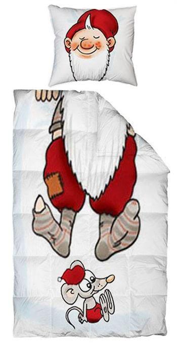 sengetøj med julemotiv Sengetøj med julemotiv i 100% Bomuld til enkelt dyne. Du finder  sengetøj med julemotiv