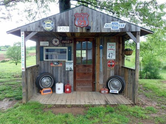 Jeannie's 'his and Hers' Garden Sheds from Fleamarket Gardening... HIS