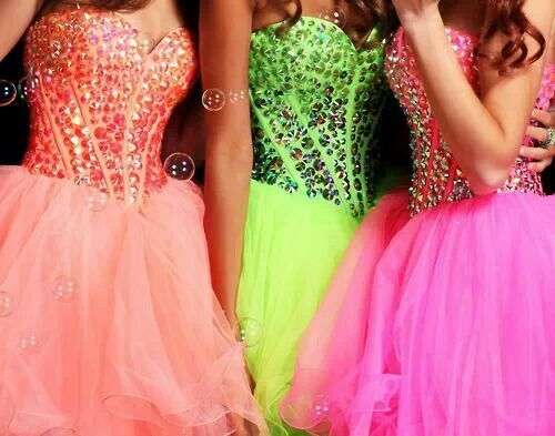 Hot Pink Prom Dresses Short with Cloves