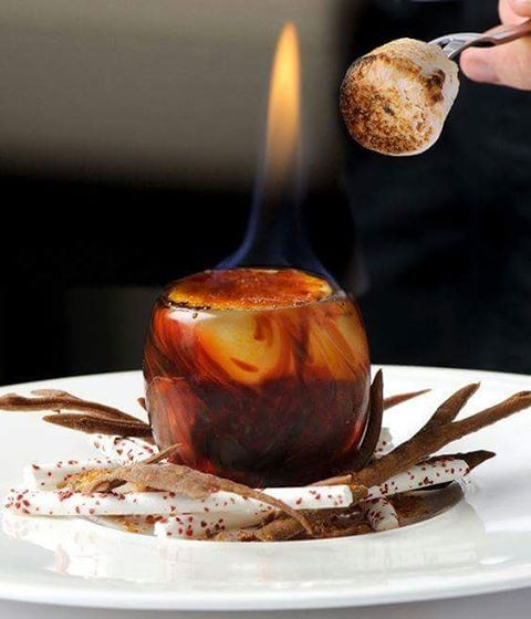 Campfire and marshmallows by Simon Hulstone...