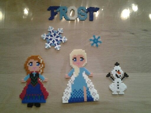 Frost i hama perler