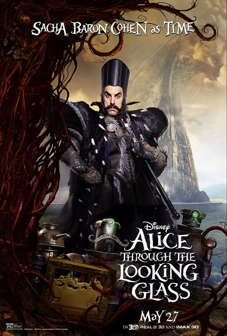 Alice Through the Looking Glass Movie Poster of Time