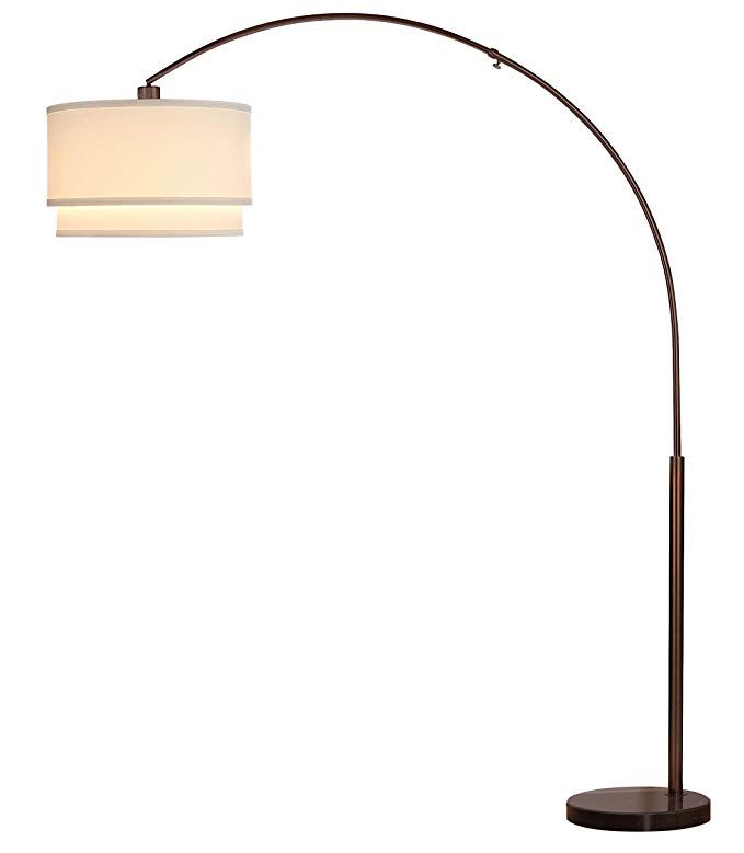 Brightech Mason Led Arc Floor Lamp Modern Standing Light For Living Rooms With Hanging Shade Marble Base Tall Pole Standing Arc Floor Lamps Lamp Floor Lamp #stand #up #lamp #for #living #room