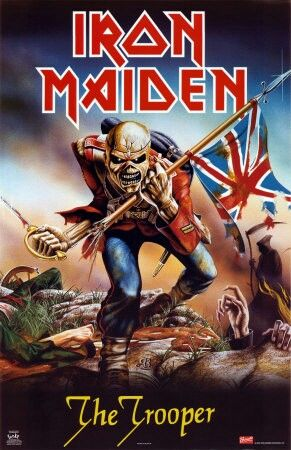 Iron Maiden Eddie The Trooper Artwork Rock Music Large Canvas Picture Wall Art
