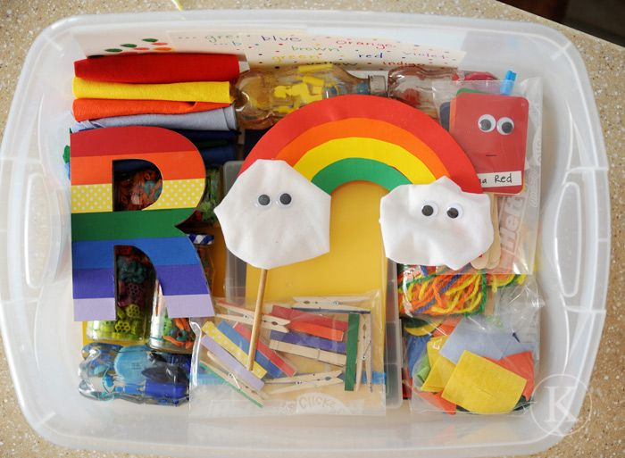 Rainbow box spring themes and activities pinterest for White rainbow project