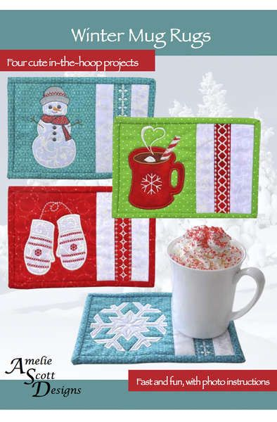 click here to view larger image of Winter Mug Rugs (PATTERNS)
