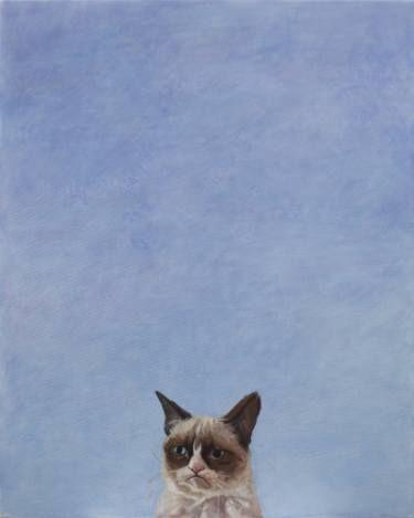 "Saatchi Art Artist sebastian sleczka; Painting, ""The Cat"" #art"