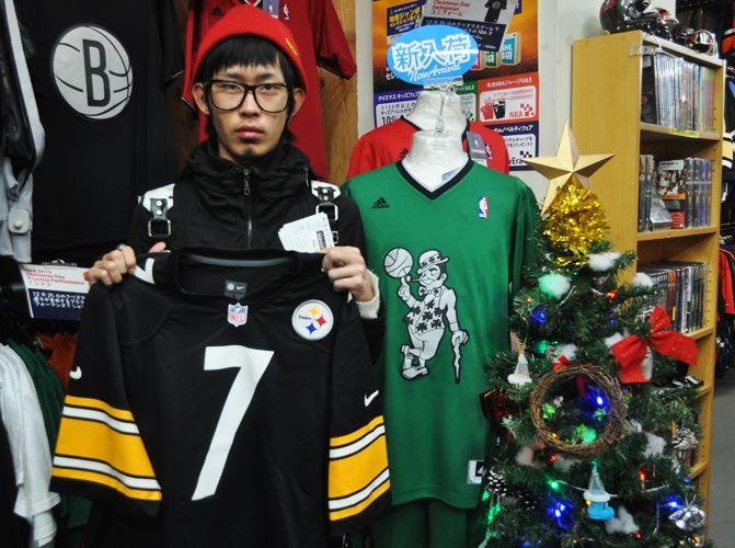 【新宿2号店】 2013年12月15日 NFLスティーラーズ・ロスリスバーガー選手のジャージをご購入いただきました♪ #nfl