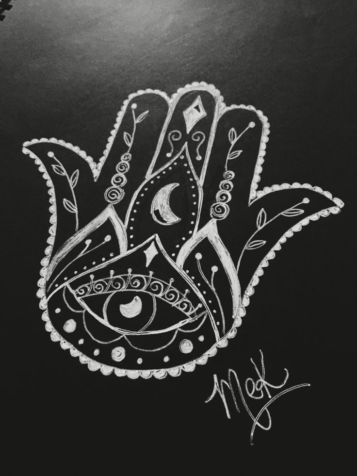 MEK art & design™   my first Hamsa hand tattoo design