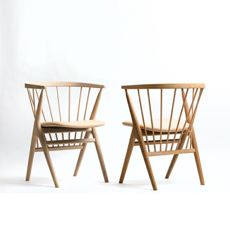 Sibast Furniture Stol No 8, Såpad Ek, Grå Ulldyna