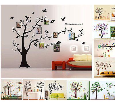Baum Wandaufkleber Wandsticker Dekoration Wandtattoo Wanddeko Wanddekoration   eBay