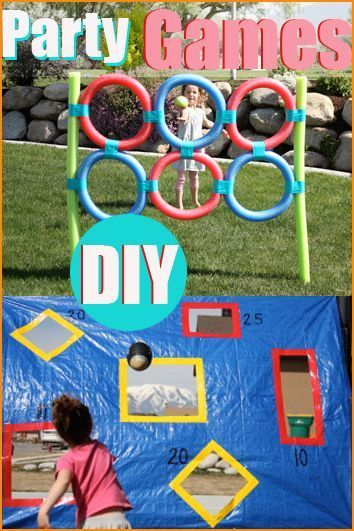DIY Party Games.  Fantastic party game ideas for any occasion.  Whether you're celebrating a birthday or just having a BBQ, these games won't disappoint.  Games for a school carnival or family reunion.