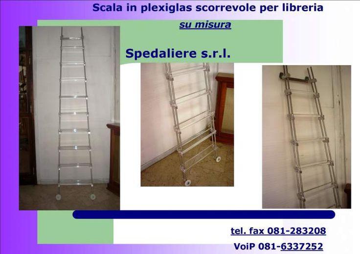Scala scorrevole per librerie, archivi, scaffalature e soppalchi