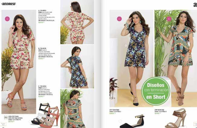 vestidos florales damas andrea catalogo