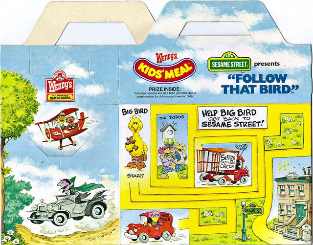 "Wendy's Kids' Meal :: ""Sesame Street Presents"": 'Follow That Bird' ii (( 1985 )) 