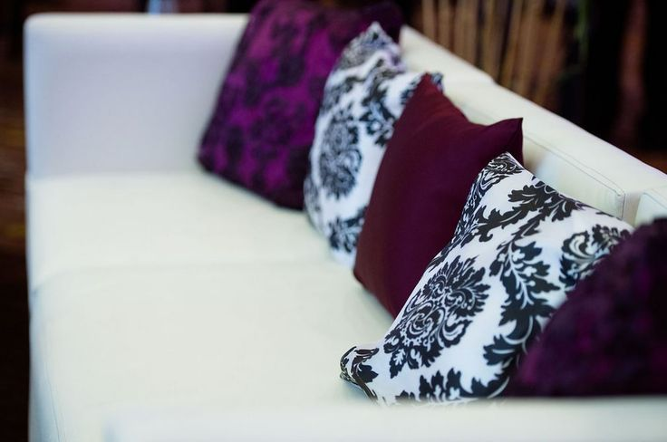 Lounges are a perfect space for your guests to mingle at events... Add some fabulous pillows for a welcoming touch!