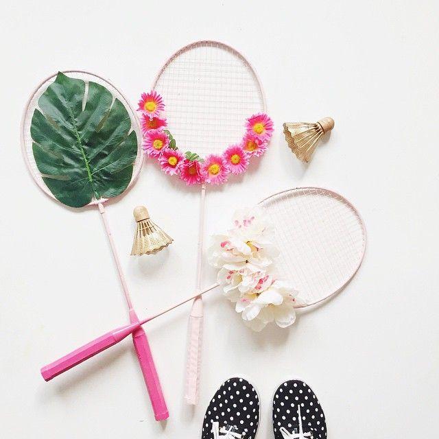 dear lizzy   floral badminton