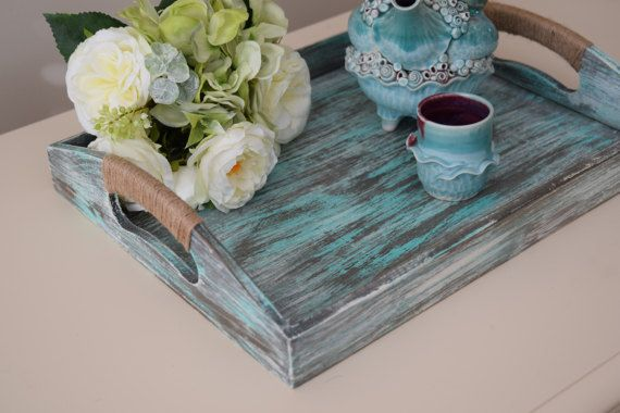 Rustic serving tray, home & living, rustic wedding, vintage serving tray, wood serving tray, rustic pallet tray, pallet tray, rustic decor by littlebarnworld. Explore more products on http://littlebarnworld.etsy.com