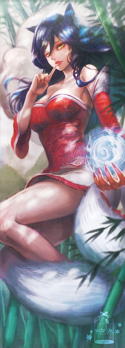 League of Legends, Ahri, by bibiko