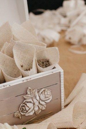 lavender filled burlap cones