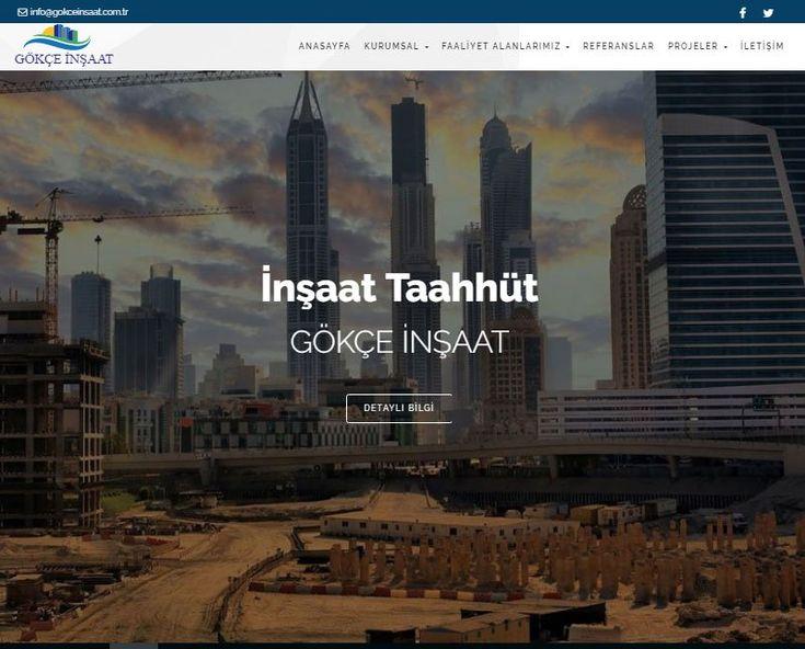 Gökçe İnşaat Emlak için, mobil uyumlu web sitesi tasarım projesi tamamlanmıştır.