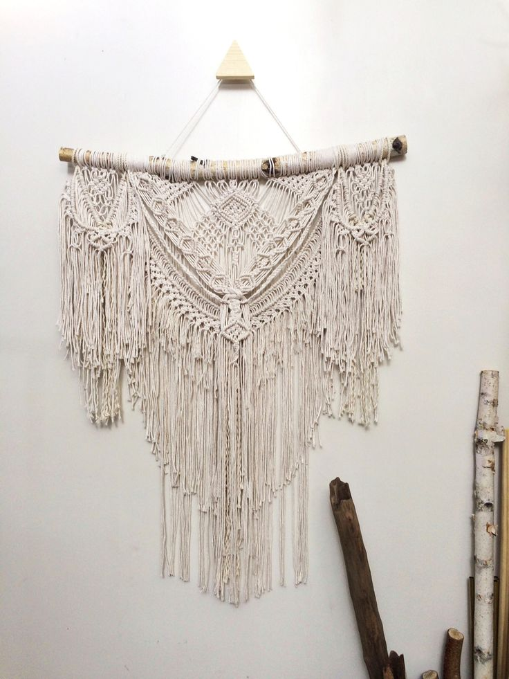 52 best macrame images on pinterest macrame wall - Tete de lit macrame ...