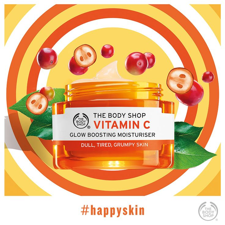 Hello, #happyskin! Get your daily dose of glow with this. #potw #vitaminc #healthyglow #glowingskin http://www.thebodyshop.co.za/store/product/vitamin-c-glow-boosting-moisturizer