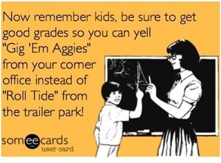 Texas A&M Aggies vs Alabama - Gig em vs roll tide