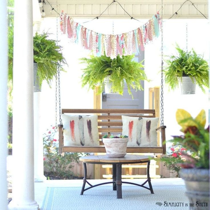 Summer Front Porch Decorating Ideas: 25+ Best Ideas About Front Porch Swings On Pinterest
