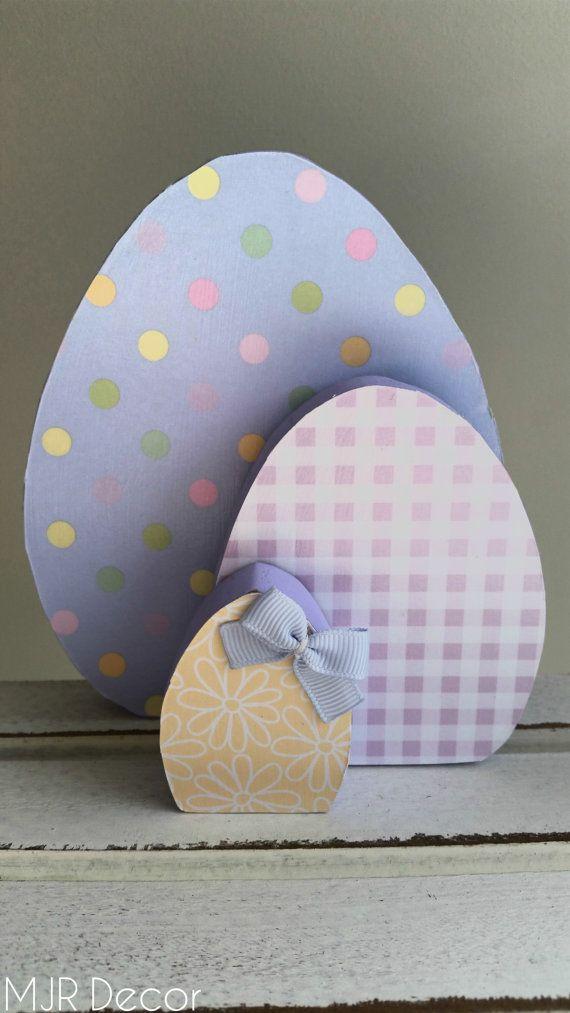 Easter Egg Trio by MJRDecor on Etsy