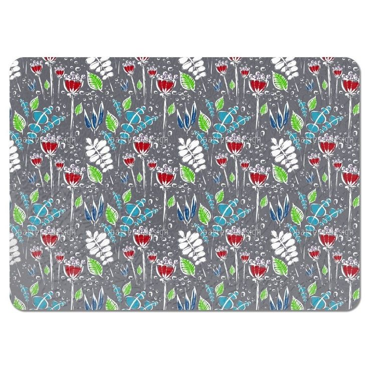 Uneekee Dewy Grey Placemats (Set of 4) (Dewy Grey Placemat) (Polyester, Floral)